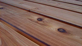 Pier Pleasure Western Red Cedar decking for a traditional look