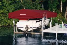 Pier Pleasure Canopies for your boat lift.