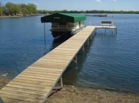 Pier Pleasure Canopies for your pontoon lift.