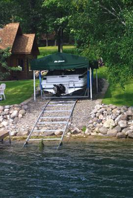 Pier Pleasure Canopies for your on-shore boat lift.
